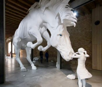 Gripping 'Horse Problem' Sculpture by Claudia Fontes